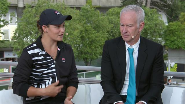 Barty joins us in the Eurosport studio!