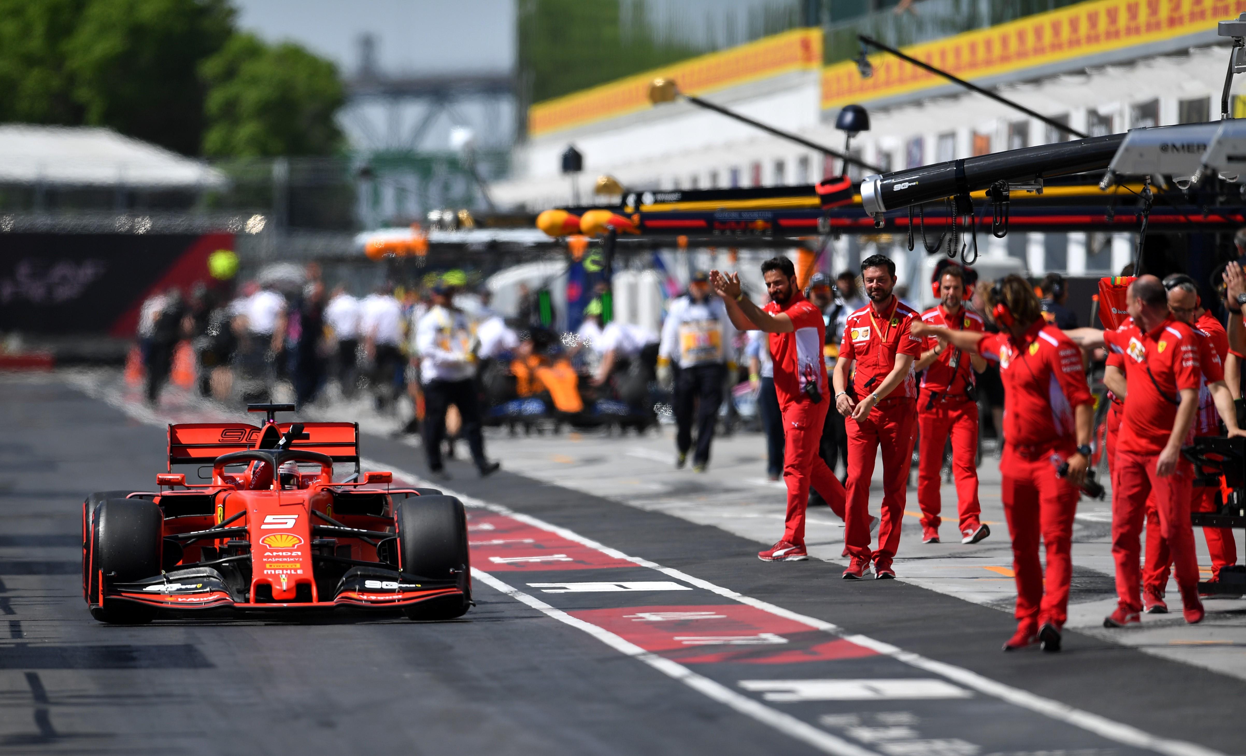 Sebastian Vettel (Ferrari) au Grand Prix du Canada 2019