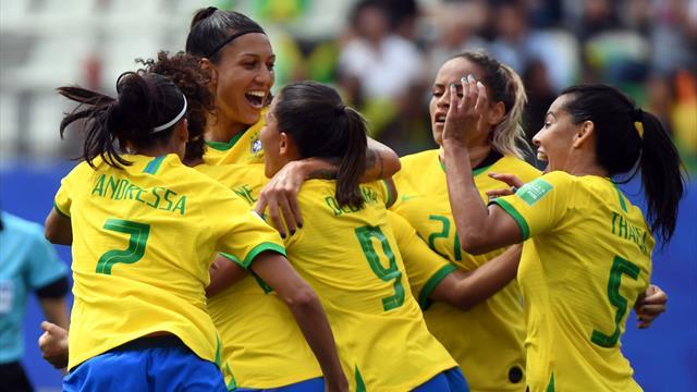 Cristiane hat-trick snaps Brazil's losing streak
