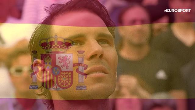 Главный момент мужского турнира: Надаль получил кубок и едва сдержал слезы во время гимна Испании