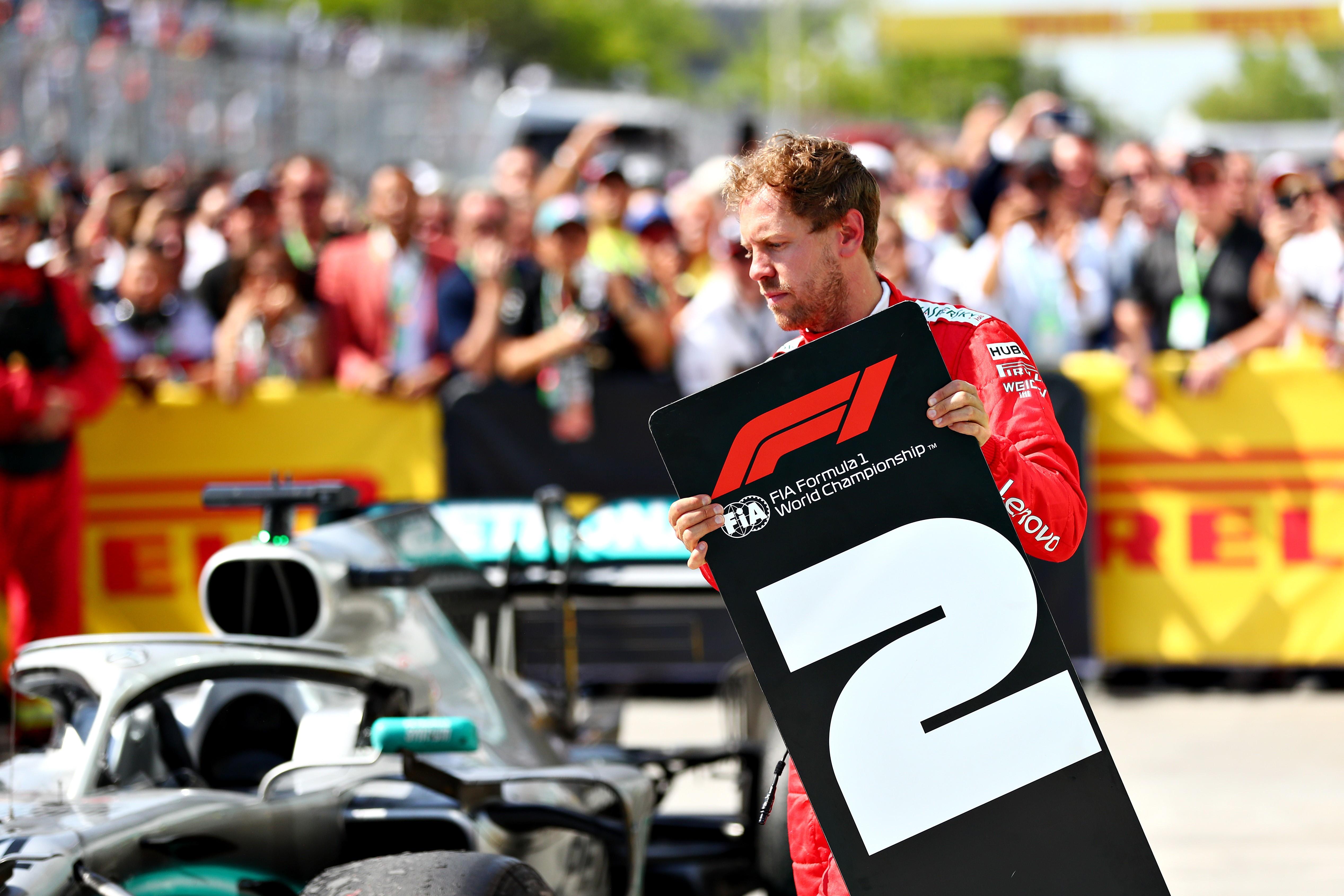 Sebastian Vettel (Ferrari) après l'arrivée du Grand Prix du Canada 2019