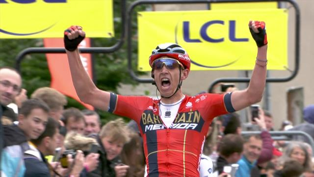 Dylan Teuns times sprint to perfection to win Stage 2 of the Critérium du Dauphiné