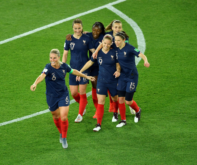 Fransa'nın Güney Kora karşısındaki gol sevinci, 2019 Kadınlar Dünya Kupası
