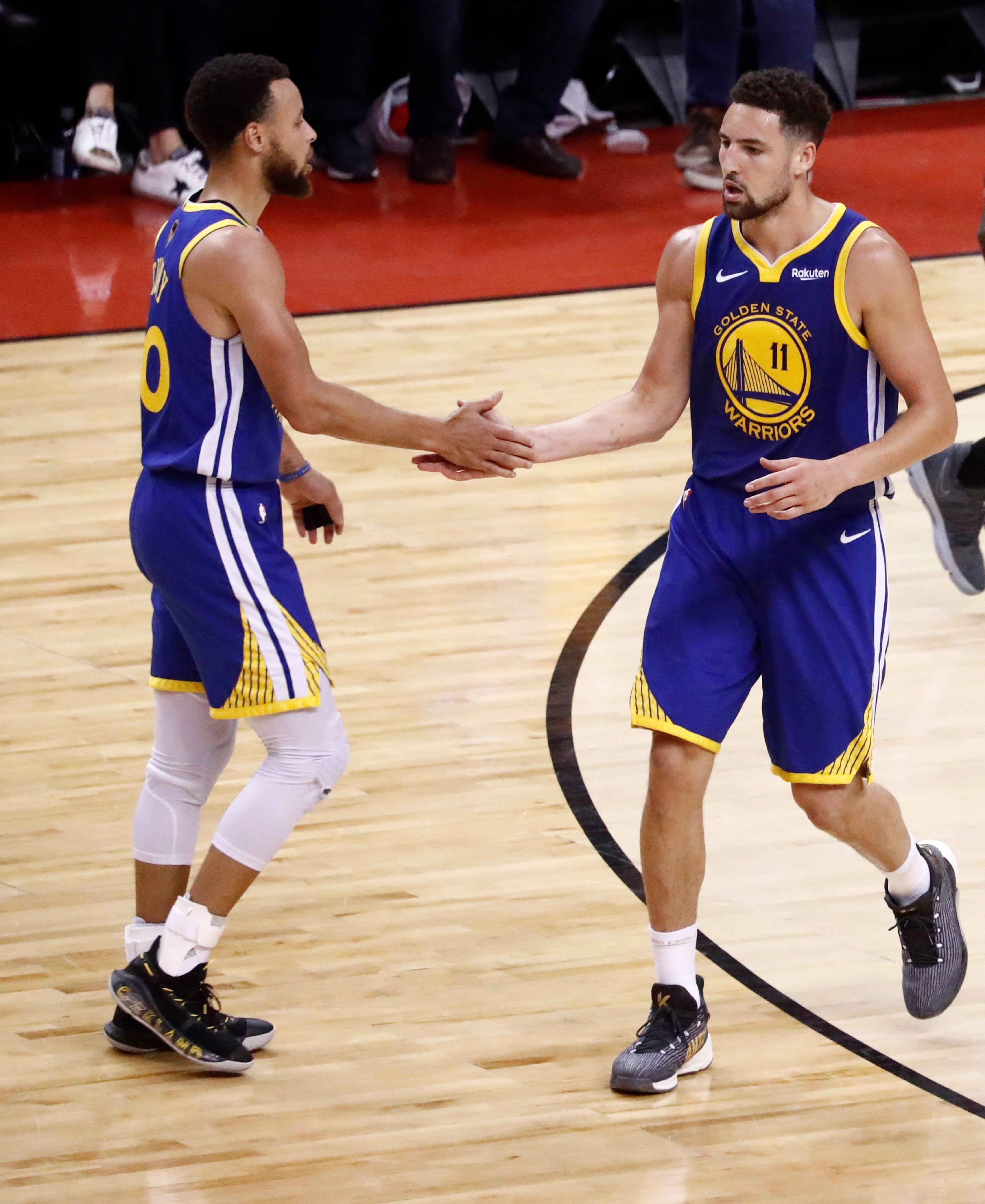 Klay Thompson ve Stephen Curry, Golden State Warriors