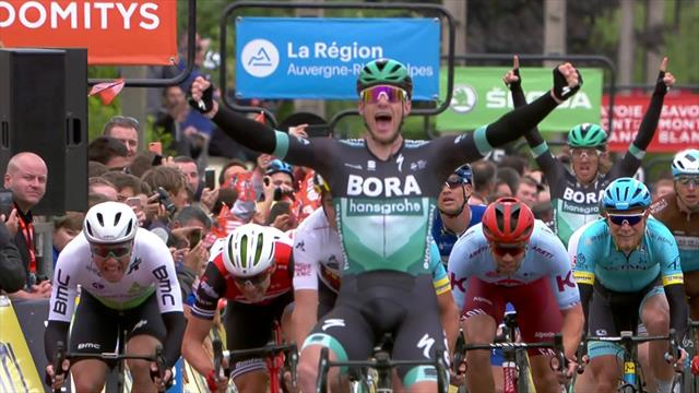 Watch Sam Bennett storm to sprint win in Stage 3 of the Criterium du Dauphiné