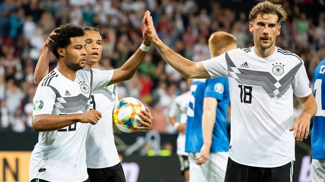 """""""Alle hatten Spaß - bis auf den Gegner"""": Deutschland feiert Kantersieg gegen Estland"""