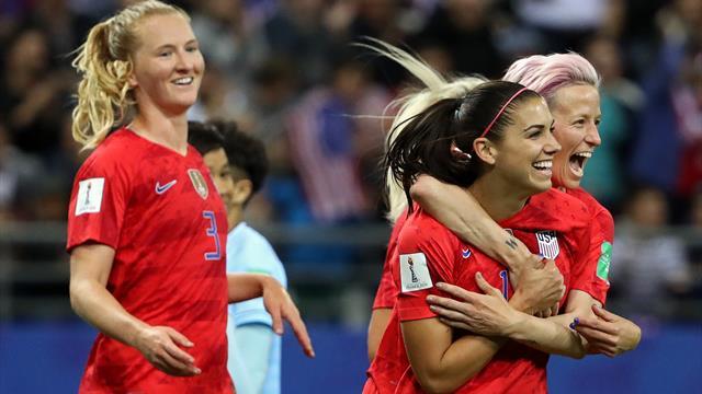 13-0 ! Les Etats-Unis commencent par un incroyable record, Morgan par un quintuplé
