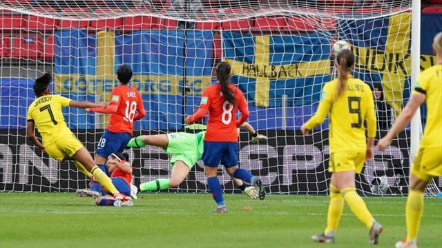 0-2. Chile resiste 82 minutos, pero cede ante el asedio de Suecia
