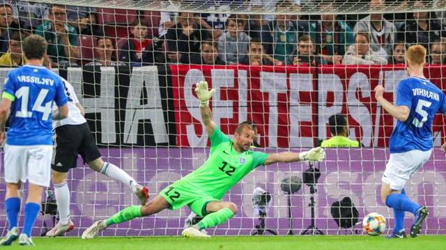 8-0. Alemania tritura a Estonia