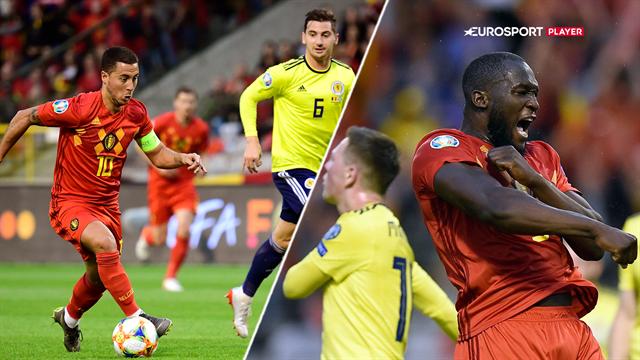 Highlights: Belgien bankede hul på den skotske defensiv i flot Lukaku-show