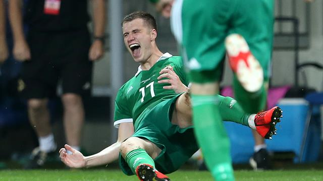 Paddy McNair's parents a lucky charm as he scores first international goal