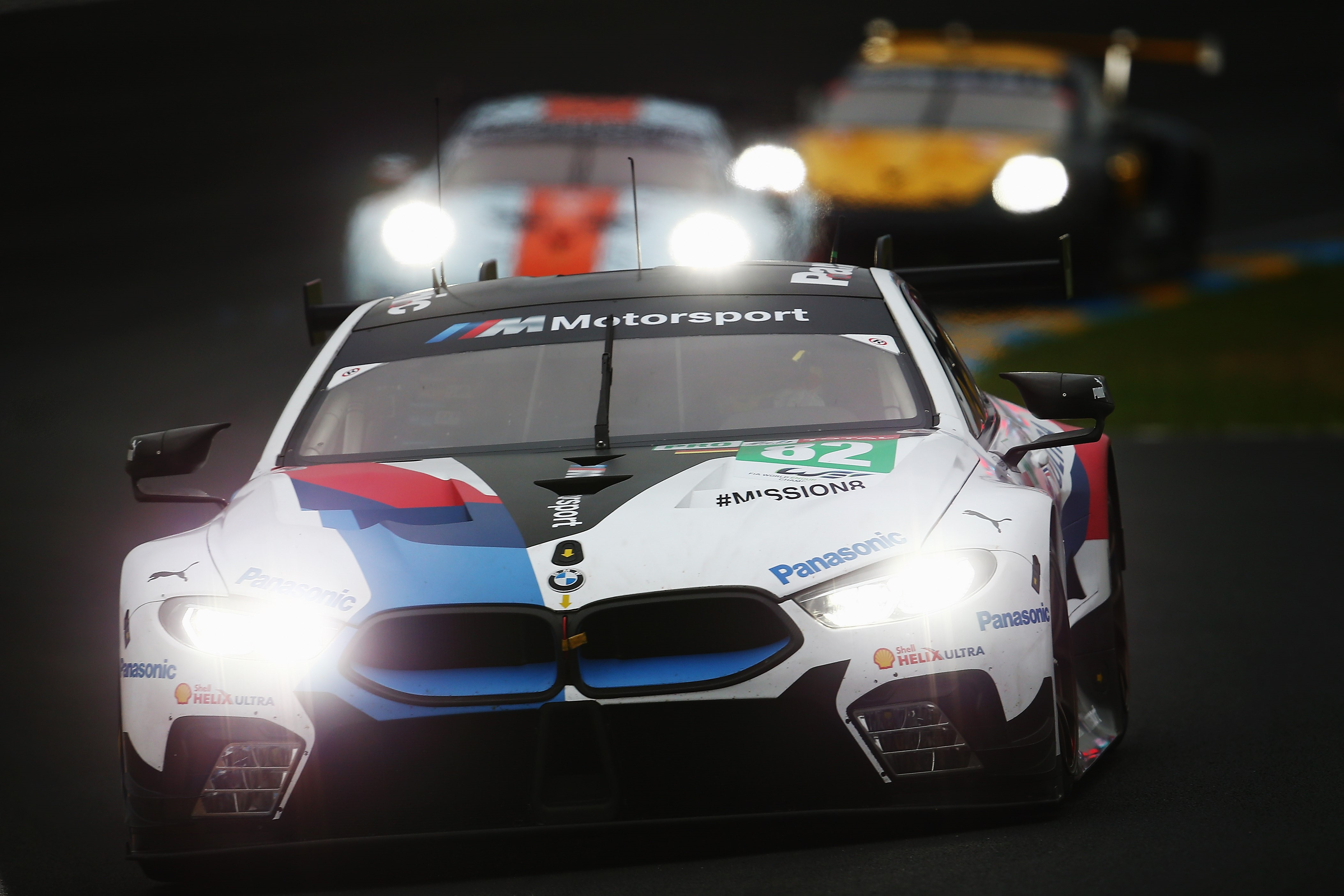 The BMW Team MTEK M8 GTE of Augusto Farfus, Antonio Felix da Costa and Alexander Sims drives during qualifying for the Le Mans 24 Hour race at the Circuit de la Sarthe on June 14, 2018 in Le Mans, France.