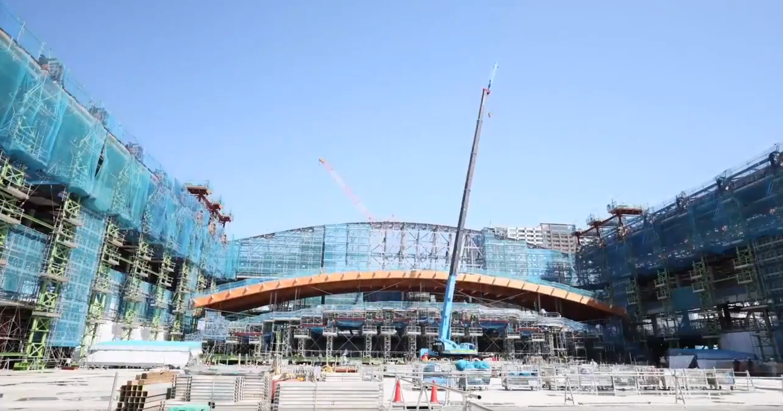 Tokyo 2020 Olimpiyatları için inşaatlar sürüyor