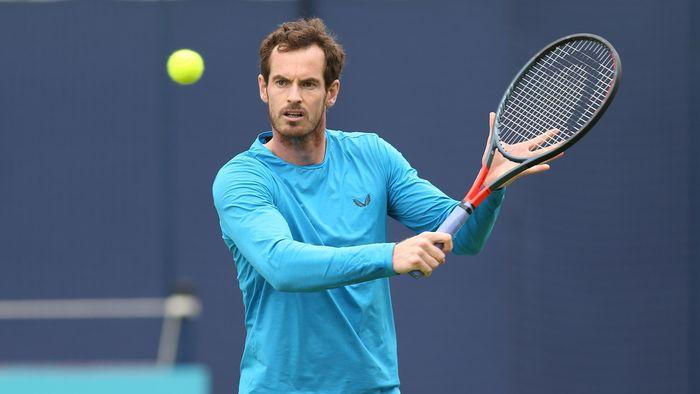Murray, durante un entrenamiento.