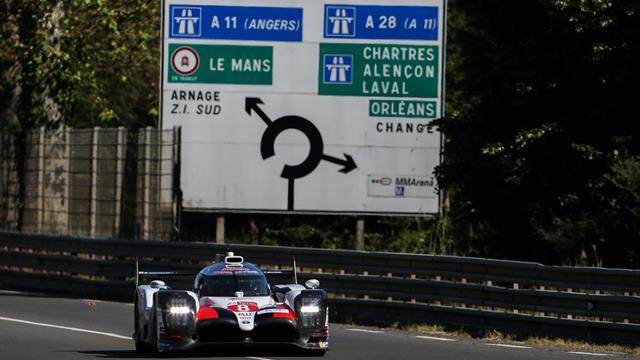 24 Horas de Le Mans 2019: La primera toma de contacto de Alonso con el Toyota, ¡a 330 km/h!