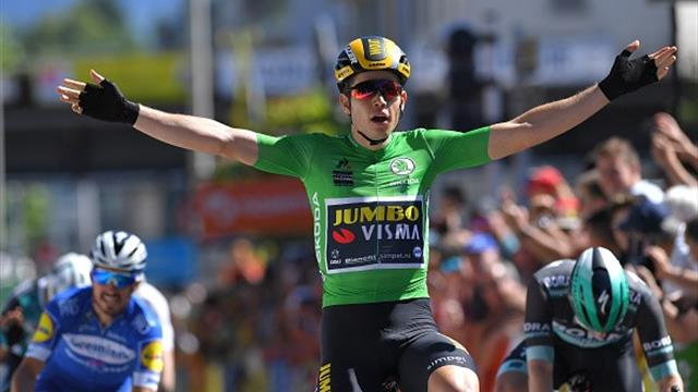 Van Aert doubles up with stunning sprint victory
