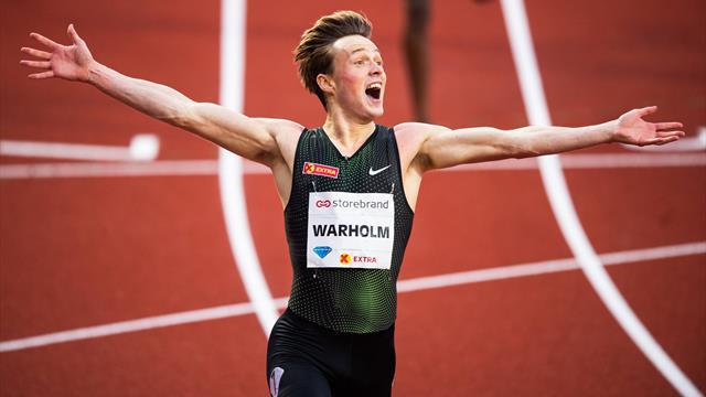 Warholm firma il record europeo dei 400 ostacoli: 47.33, crolla dopo 24 anni quello di Diagana