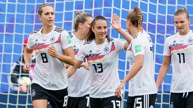 DFB-Frauen dank China-Sieg im Achtelfinale - Australien schockt Brasilien