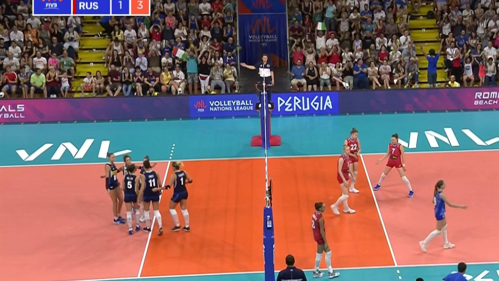 Calendario Volley Mondiali 2020.Volleyball Nations League Italia Russia 3 1 Gli Highlights
