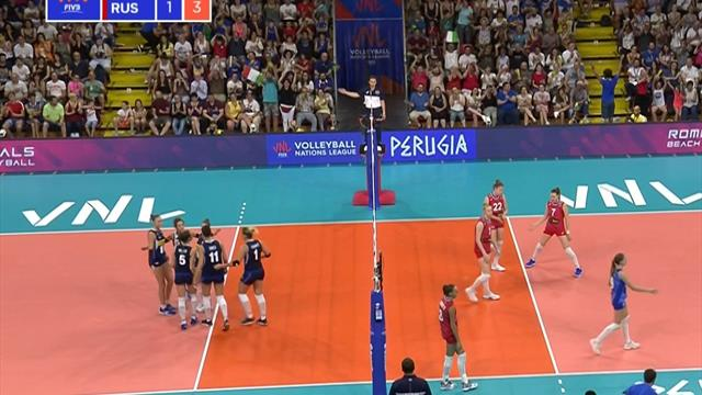 Volleyball Nations League: Italia-Russia 3-1, gli highlights