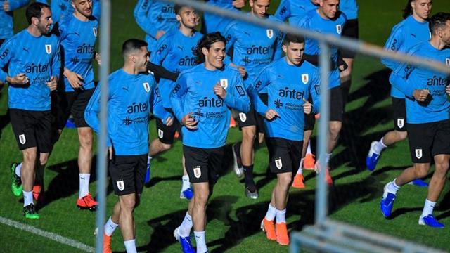 Uruguay completa su primer entrenamiento en Brasil
