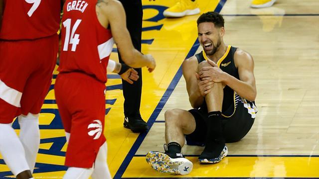 La totale pour les Warriors : Thompson gravement touché au genou gauche