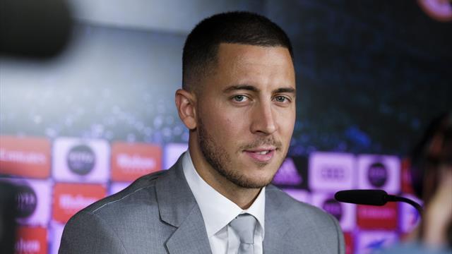 """Hazard : """"J'ai demandé le numéro 10 à Modric"""""""