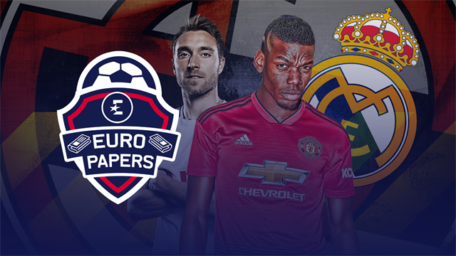 Euro Papers: Real ready £150m Pogba bid after 'negative Eriksen reports'