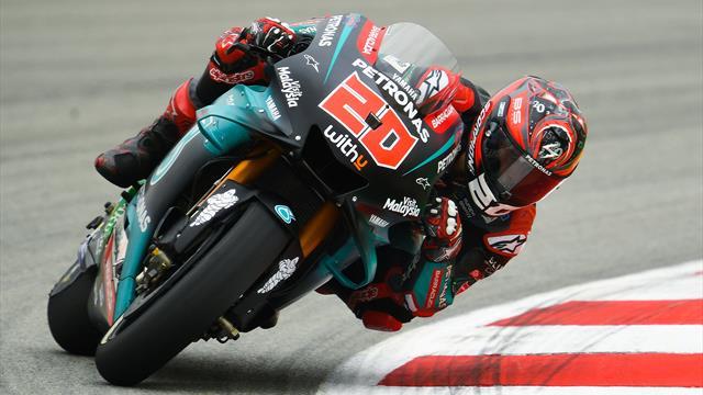 Quartararo vola con la Yamaha nelle FP2: Dovizioso 2°, Marquez solo 17°