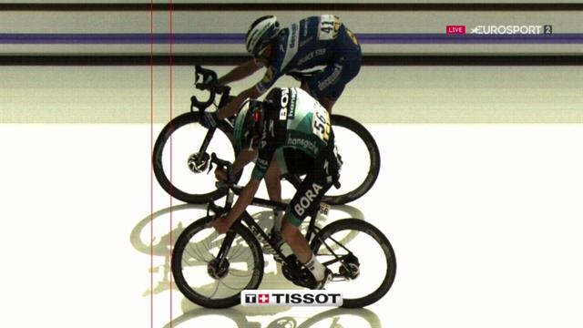 Alaphilippe a dû jeter son vélo sur la ligne pour coiffer Mühlberger
