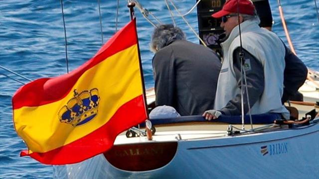 El rey Juan Carlos prepara la Copa de España 6m de vela