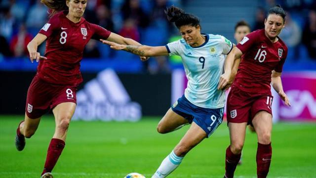 1-0. Un gol de Taylor abate a Argentina