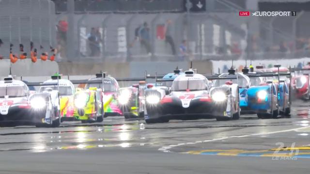 Le départ a été chaud mais Toyota a conservé les deux premières places