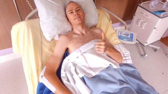 Froome: I'm lucky to be alive