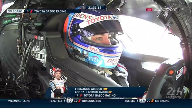 24 Horas de Le Mans: Fernando Alonso inició su relevo al volante del Toyota #8