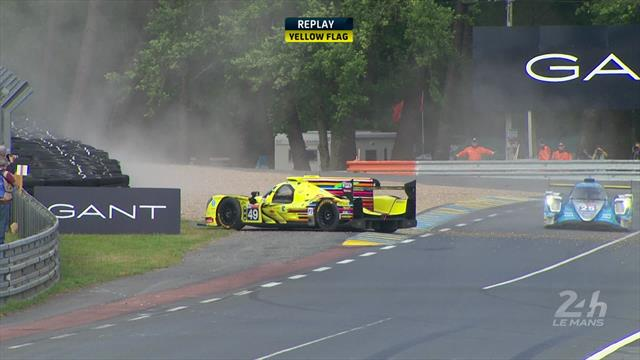 """""""Haarige Situation"""": Enqvist versucht Auto nach Dreher wieder auf Kurs zu bringen"""