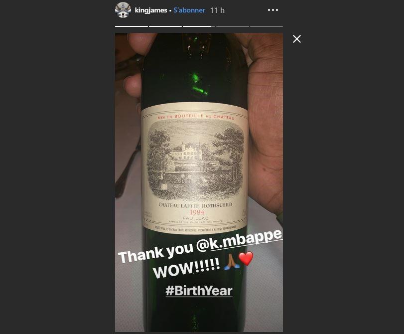 Le cadeau de Mbappé à LeBron James
