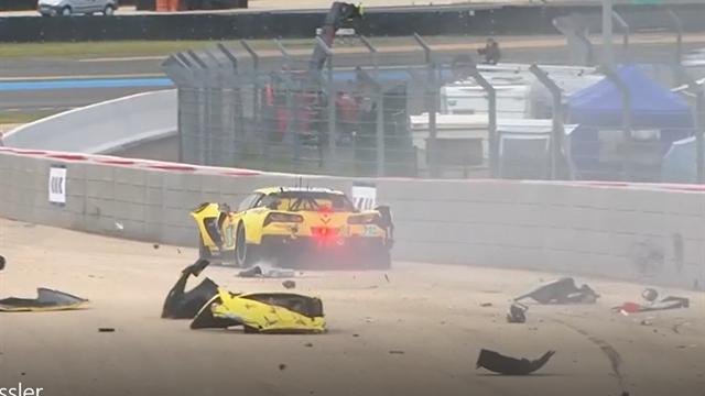 Che botta! Marcel Fässler sbaglia la manovra in sorpasso e distrugge la macchina