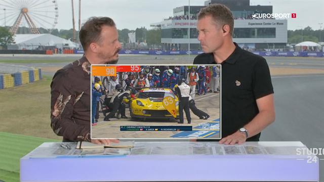 Under 3 timer tilbage: Tom Kristensen analyserer udviklingen for Magnussens Corvette