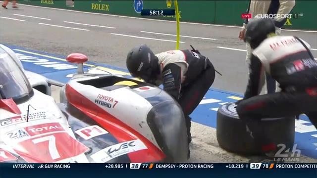 24 Horas de Le Mans: Pinchazo del #7 y el coche de Alonso vuelve a ser líder