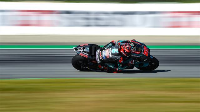 Quartararo meilleur temps de la 1re séance d'essais libres, Lorenzo chute lourdement