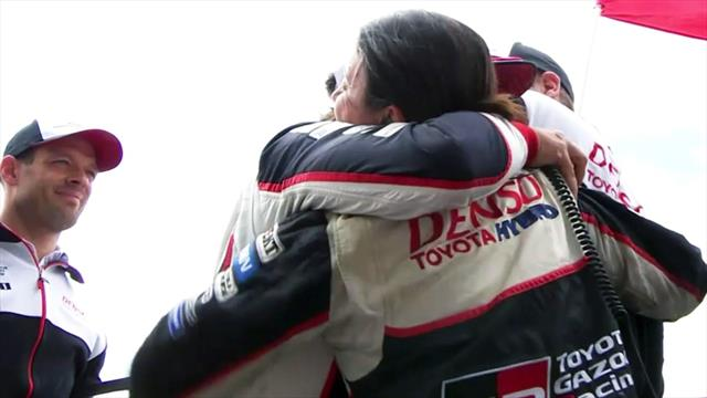 Letzte Runde in Le Mans: Hier jubeln Alonso und Co. über den Sieg