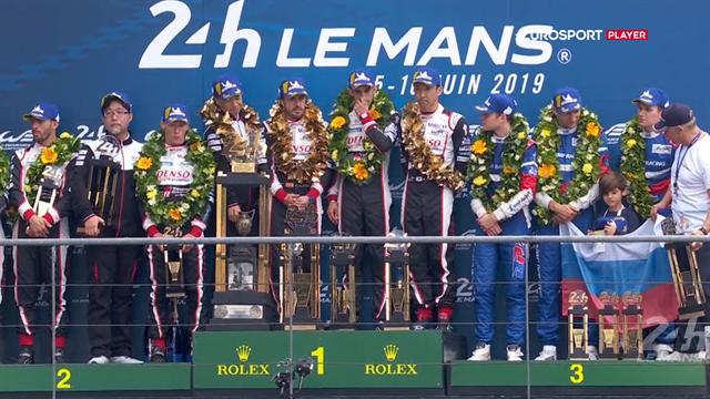 De 24 timer er forbi: Se hele den flotte præmieoverrækkelse fra årets Le Mans