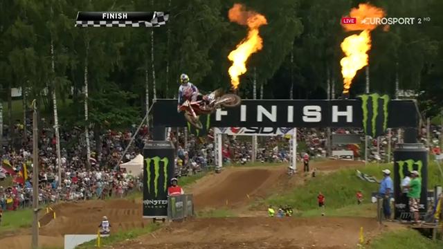 Mundial Motocross Letonia: Prado se muestra imbatible y también gana la segunda carrera