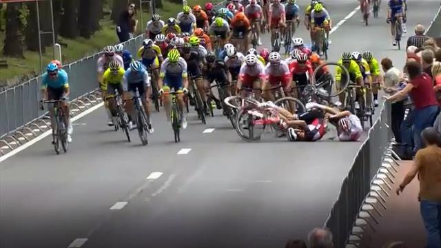 Belgien-Rundfahrt: Fieser Massensturz überschattet Evenepoel-Gesamtsieg