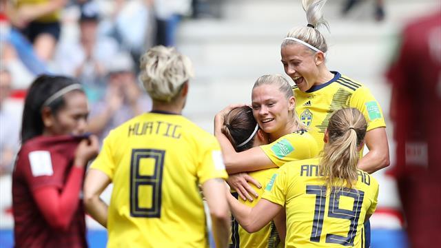 Reçues 2/2, les Suédoises rejoignent les huitièmes