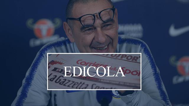Edicola Arriva Sarri parte il mercato Juventus da Pogba a Icardi passando per Milinkovic