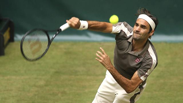 Federer begins grasscourt season with win over Millman in Halle