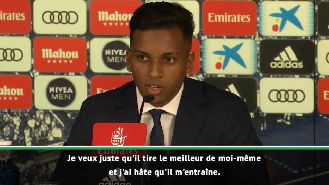 """Real - Rodrygo : """"J'ai hâte d'être entraîné par Zidane"""""""