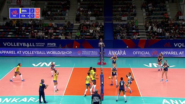 Volleyball Nations League: Brasile-Italia 3-0, gli highlights